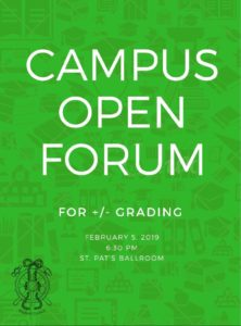 Campus Open Forum for +/- Grading